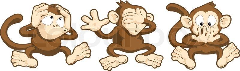 Höre nichts, sehe nichts Böses, sprechen keine bösen Affen.