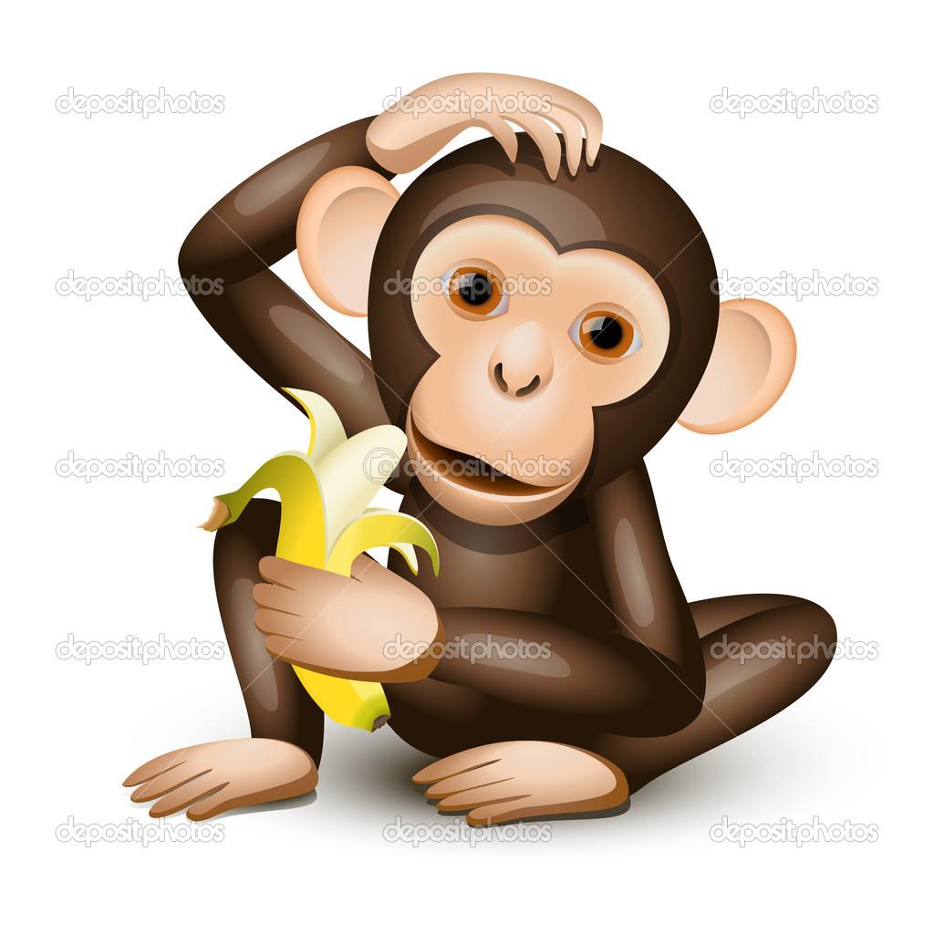 Kleinen Affen — Stockvektor © tiloligo #5788586.