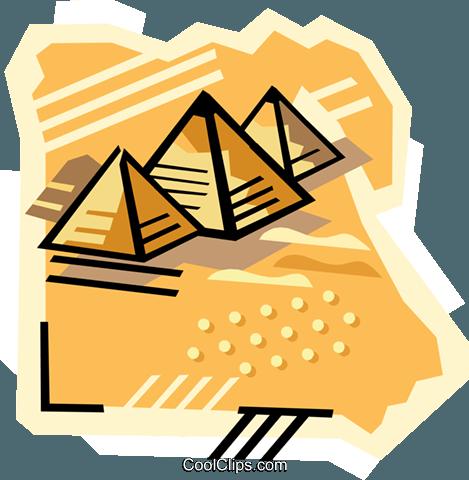 geotechnischen Stil, Ägypten, Pyramiden Vektor Clipart Bild.