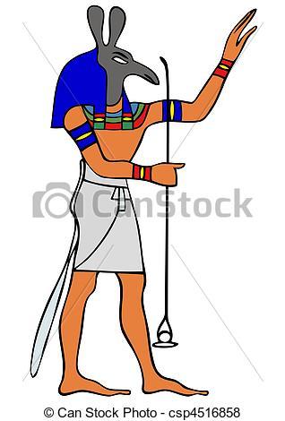 Vektor von Ägypten, gott, uralt,.