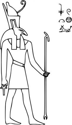 Seth Outline historische Ägypten Lineart Gott antiken ägyptischen.