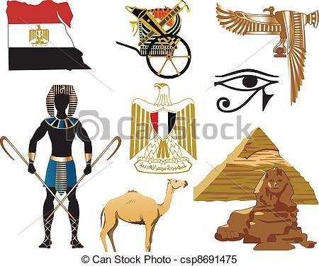 Clipart Vektor von Ägypten, heiligenbilder.