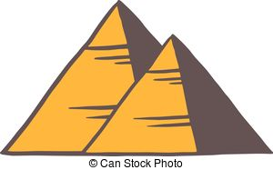 Clip Art Vector of egypt pyramids.