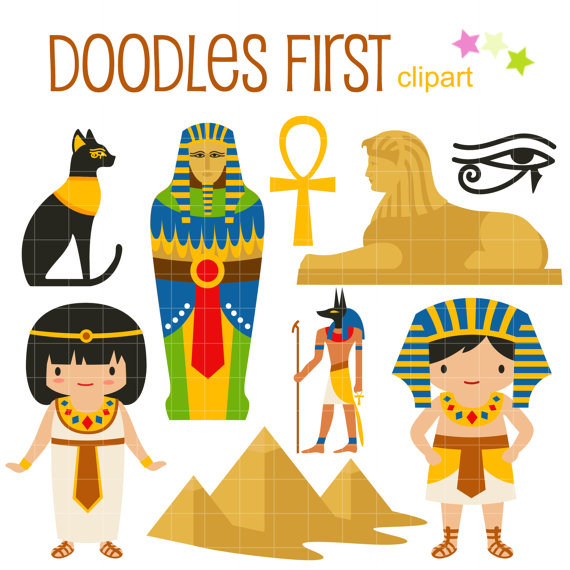 Das alte Ägypten DIgital ClipArt für Scrapbooking von DoodlesFirst.