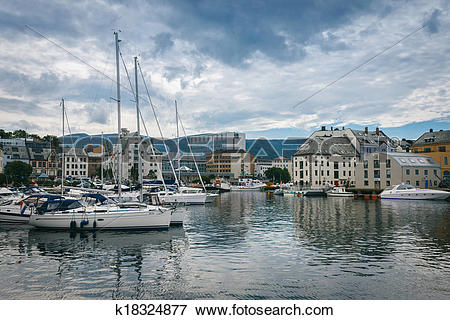 Picture of Downtown Alesund, Norway k18324877.