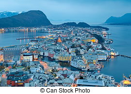Pictures of Alesund, Norway.