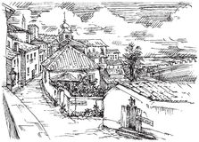 Obidos Stock Illustrations.