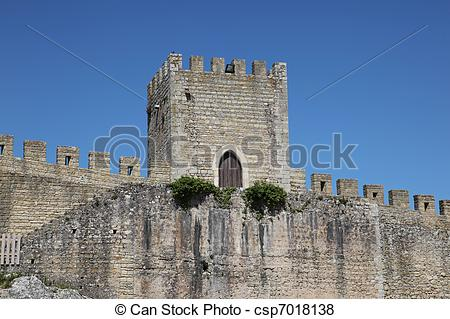 Pictures of Obidos City Wall.