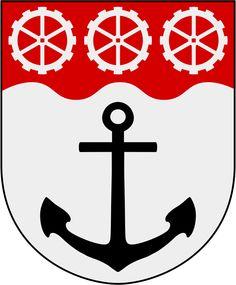 Coat of arms of Östanstång, in Östergötland, Sweden.
