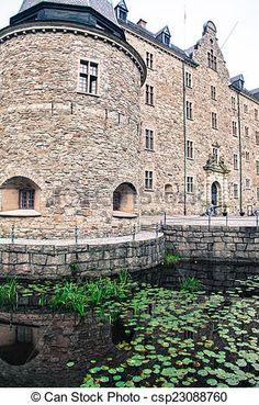 King and Queen door at Örebro Castle.