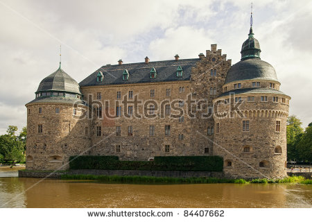 Orebro Castle. The Medieval Castle Fortification In Orebro, Narke.