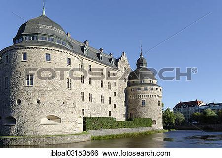 """Stock Images of """"Oerebro Castle or Oerebro Slott, Orebro, Orebro."""