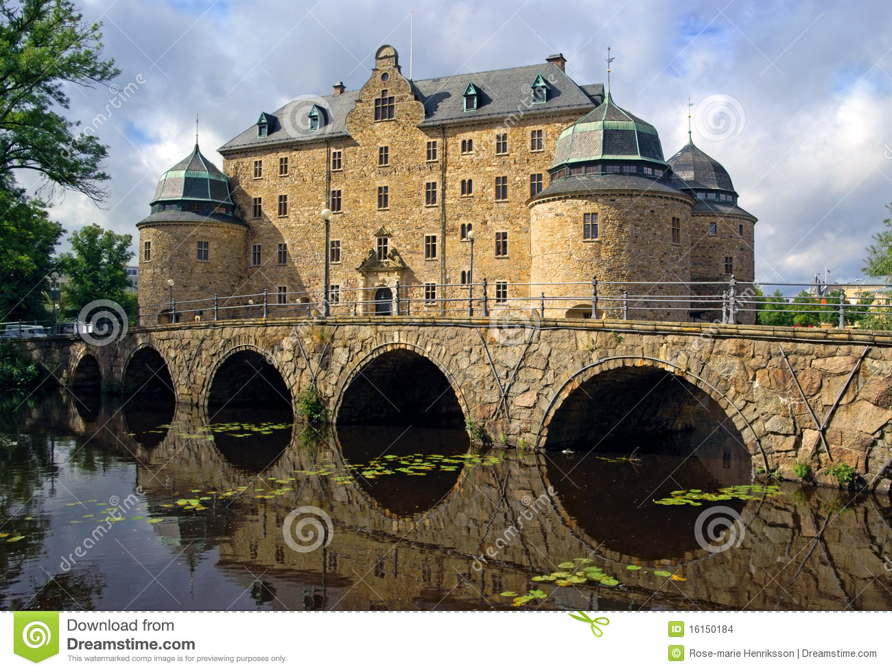 Orebro Castle, Sweden Stock Images.