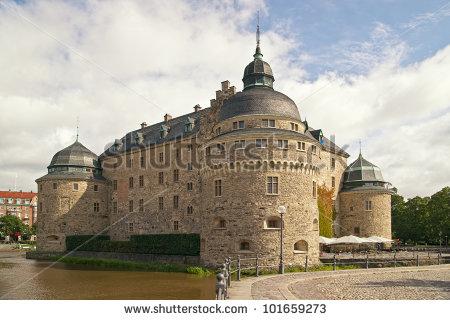 Orebro Castle Medieval Castle Fortification Orebro Stock Photo.