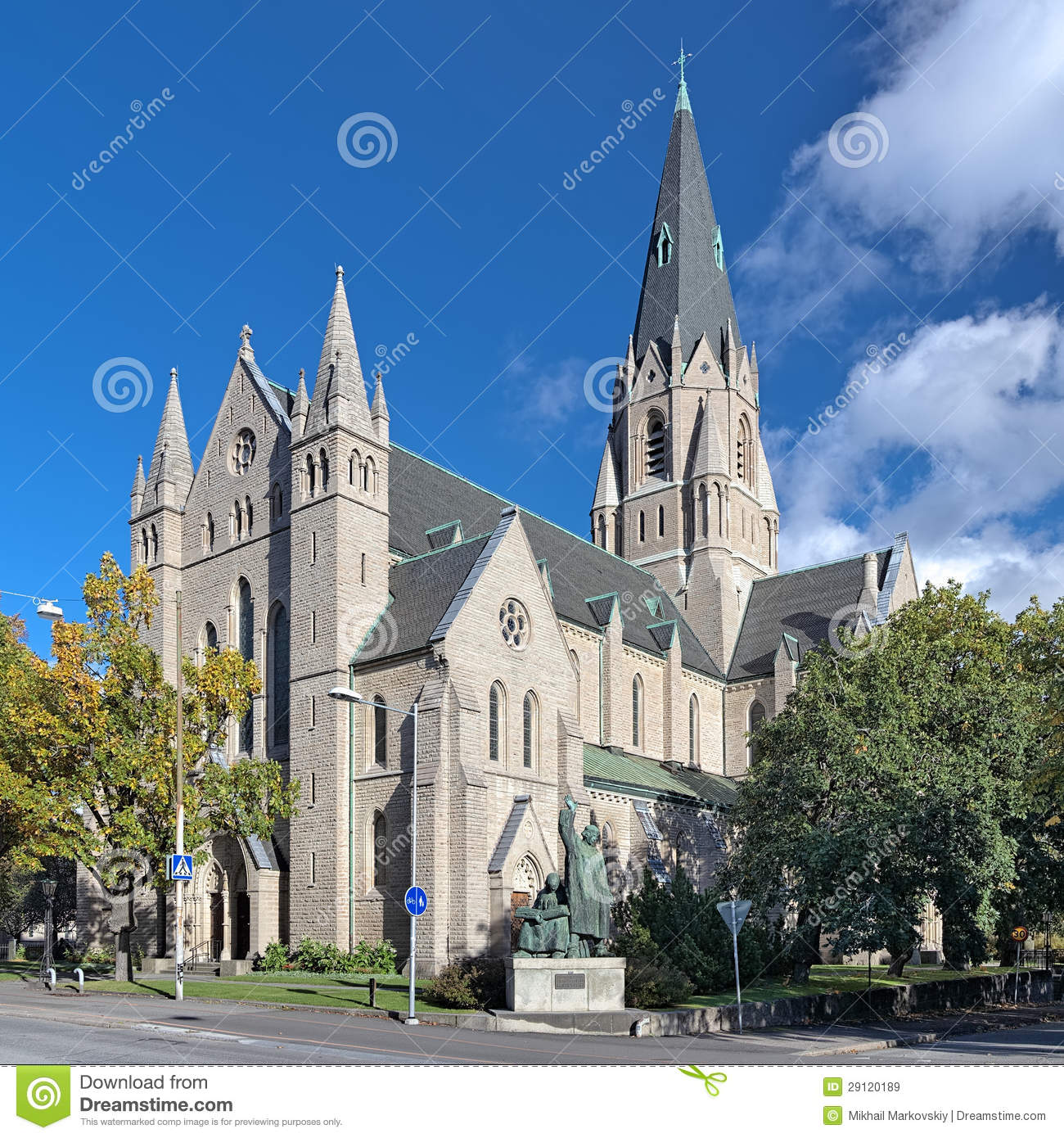 Olaus Petri Church In Orebro, Sweden Royalty Free Stock Images.