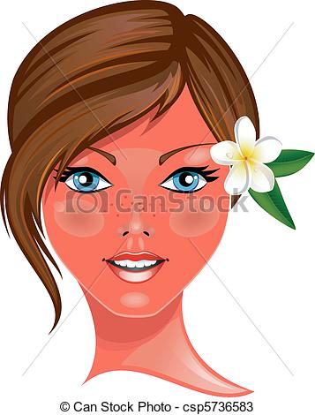 Beautiful Girl Clipart.