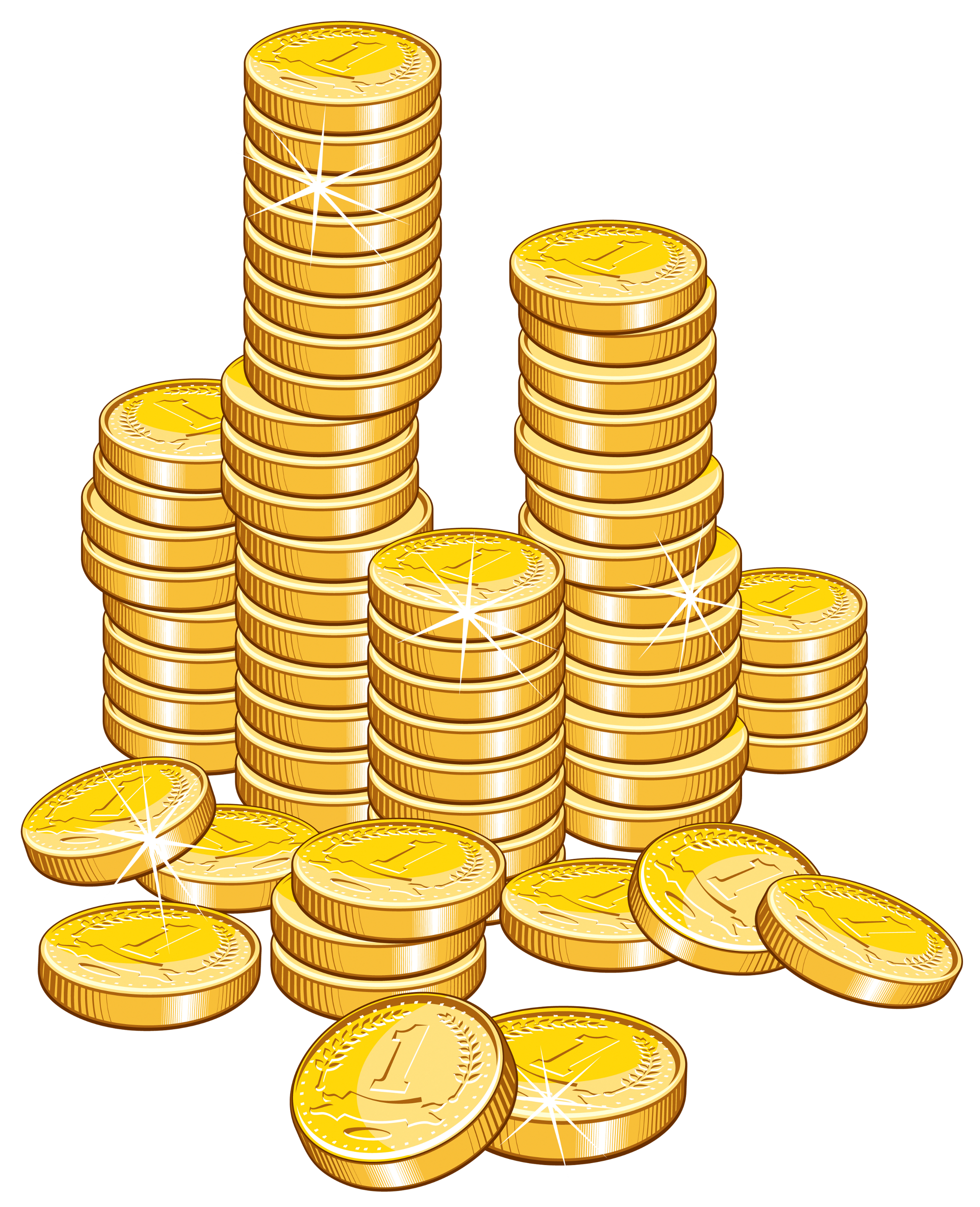 Coin Stack Clipart.