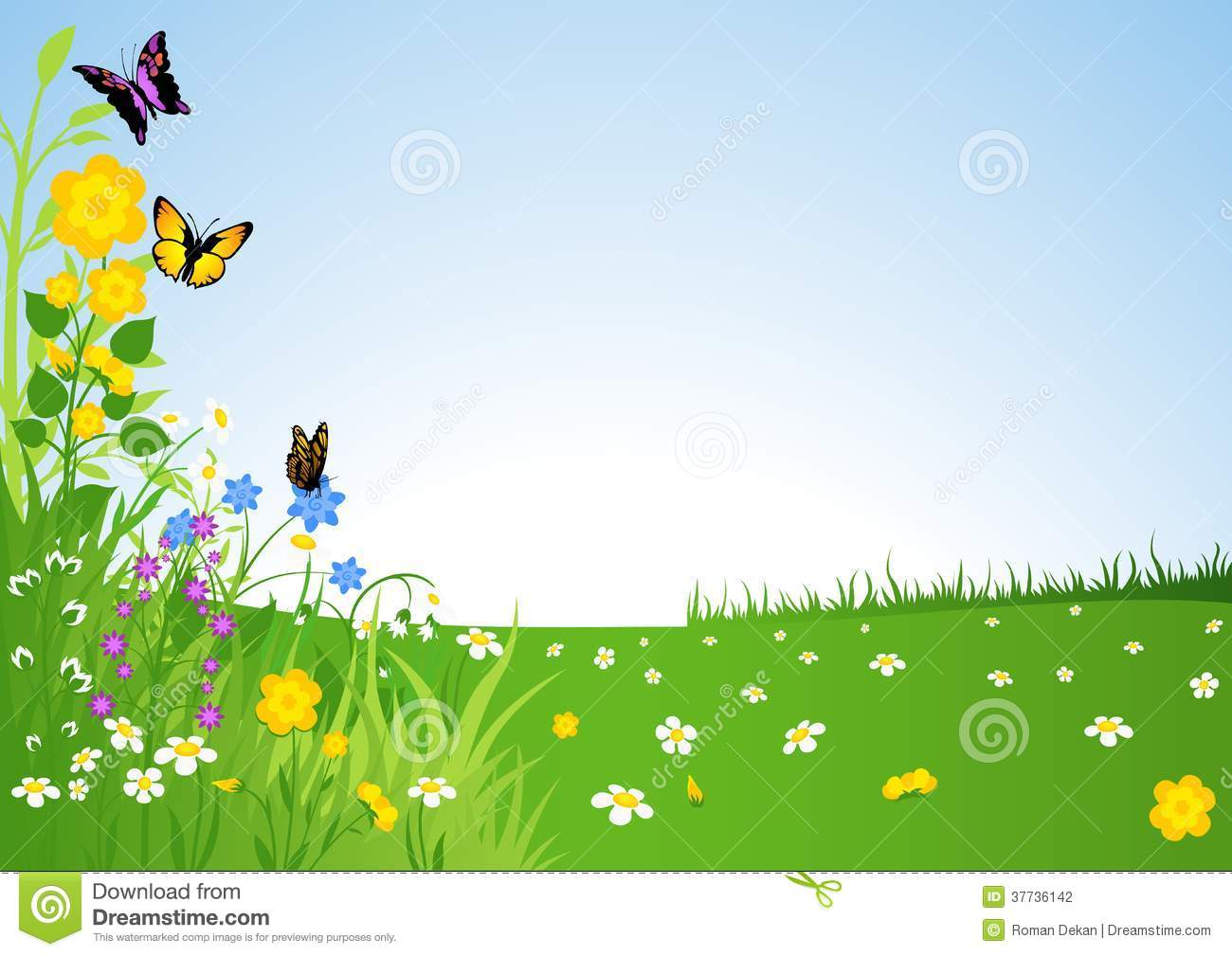 ' meadow clipart #15