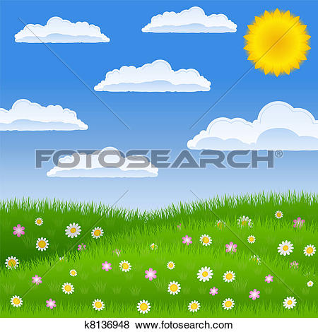Clip Art of Meadow k8136948.