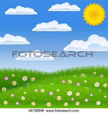 Clip Art of Meadow k8136948.