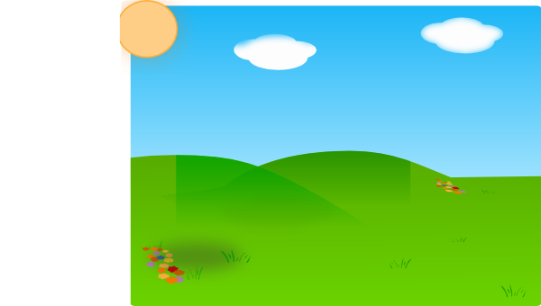 ' meadow clipart #17