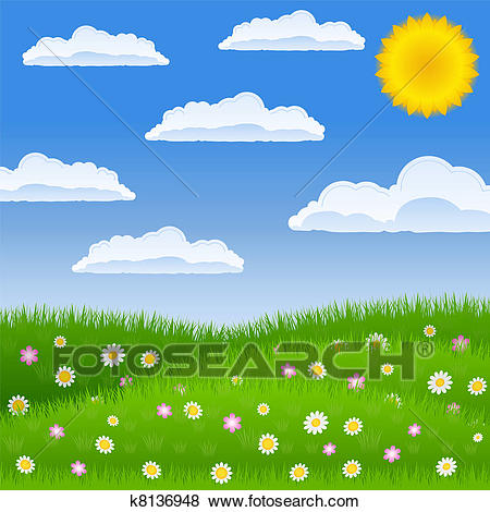 Peaceful Meadow Clip Art.