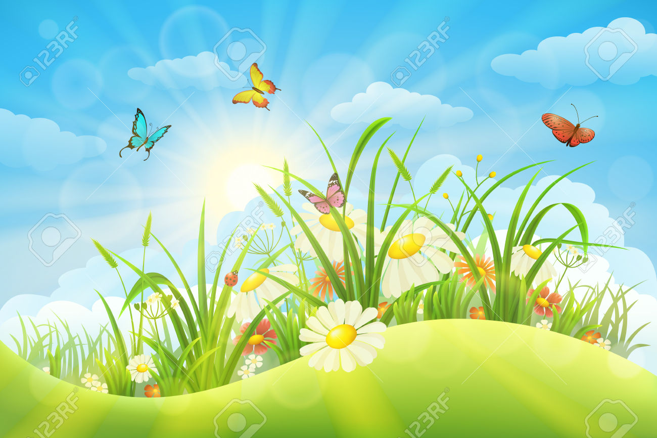 ' meadow clipart #11