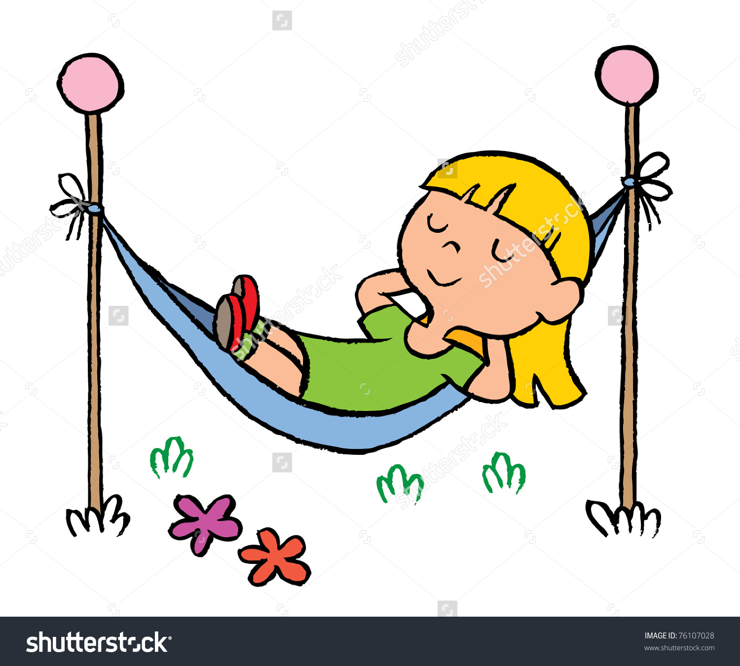 Animations : relaxing-on-hammock-animation : Classroom Clipart |Kids Relax Clipart