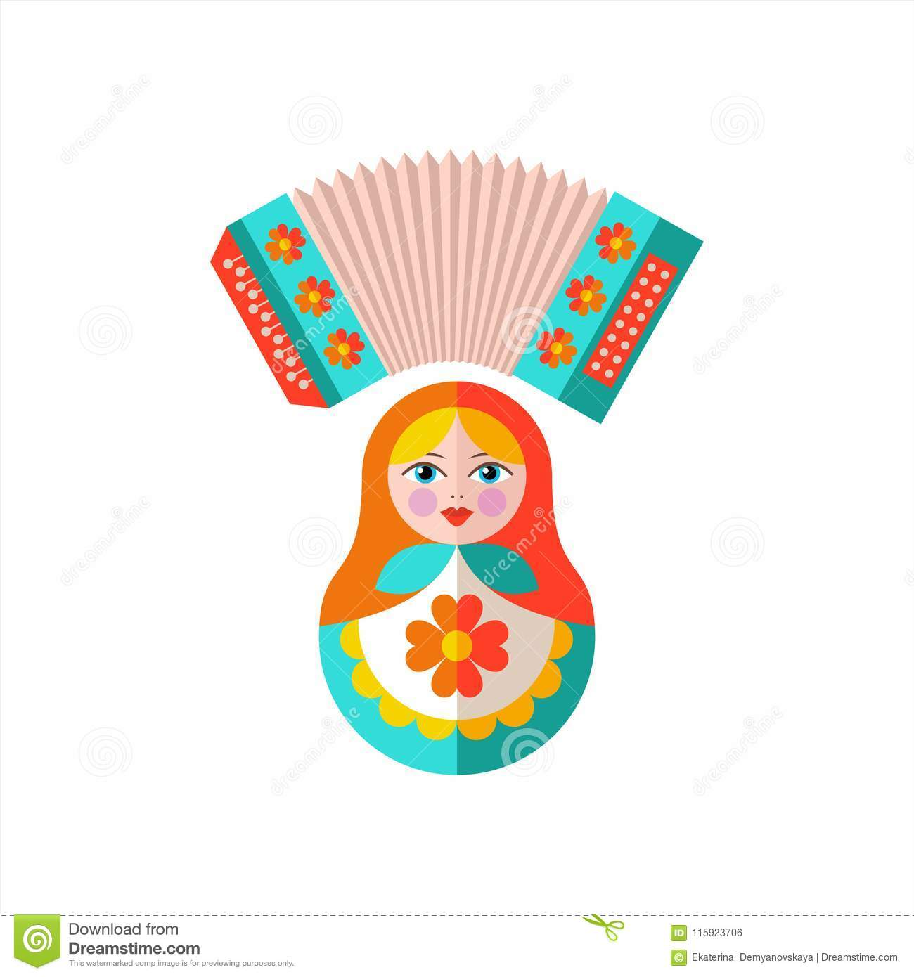Welcome To Russia. Vector Illustration. Stock Vector.