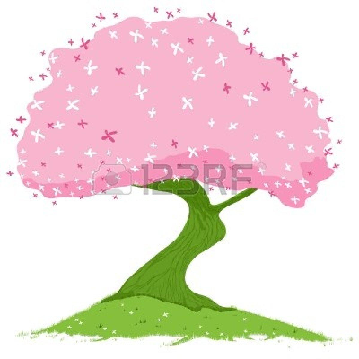 Pink Spring Tree Clip Art.