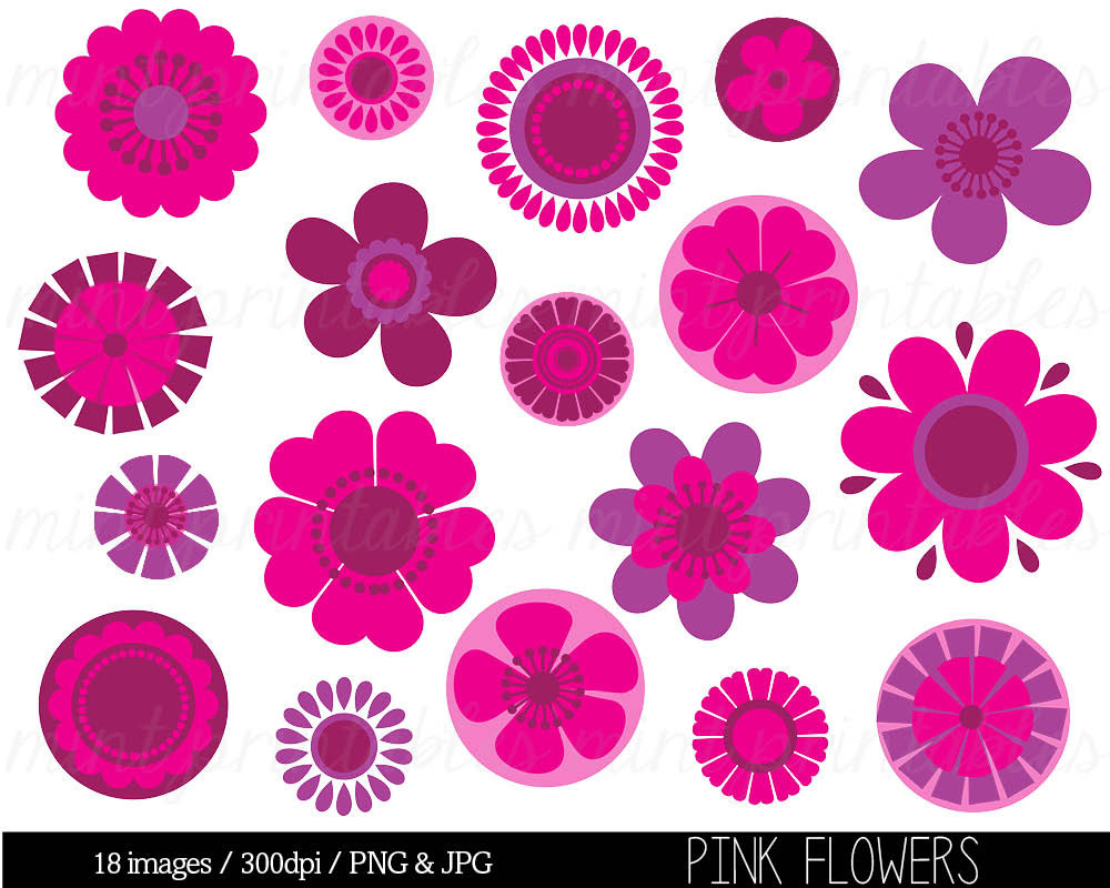 Pink Flower Clip Art & Pink Flower Clip Art Clip Art Images.