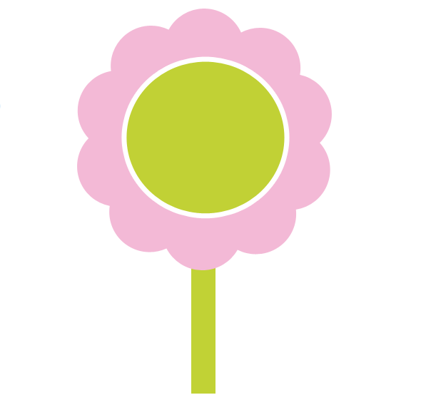 Pink Spring Flowers Clip Art.