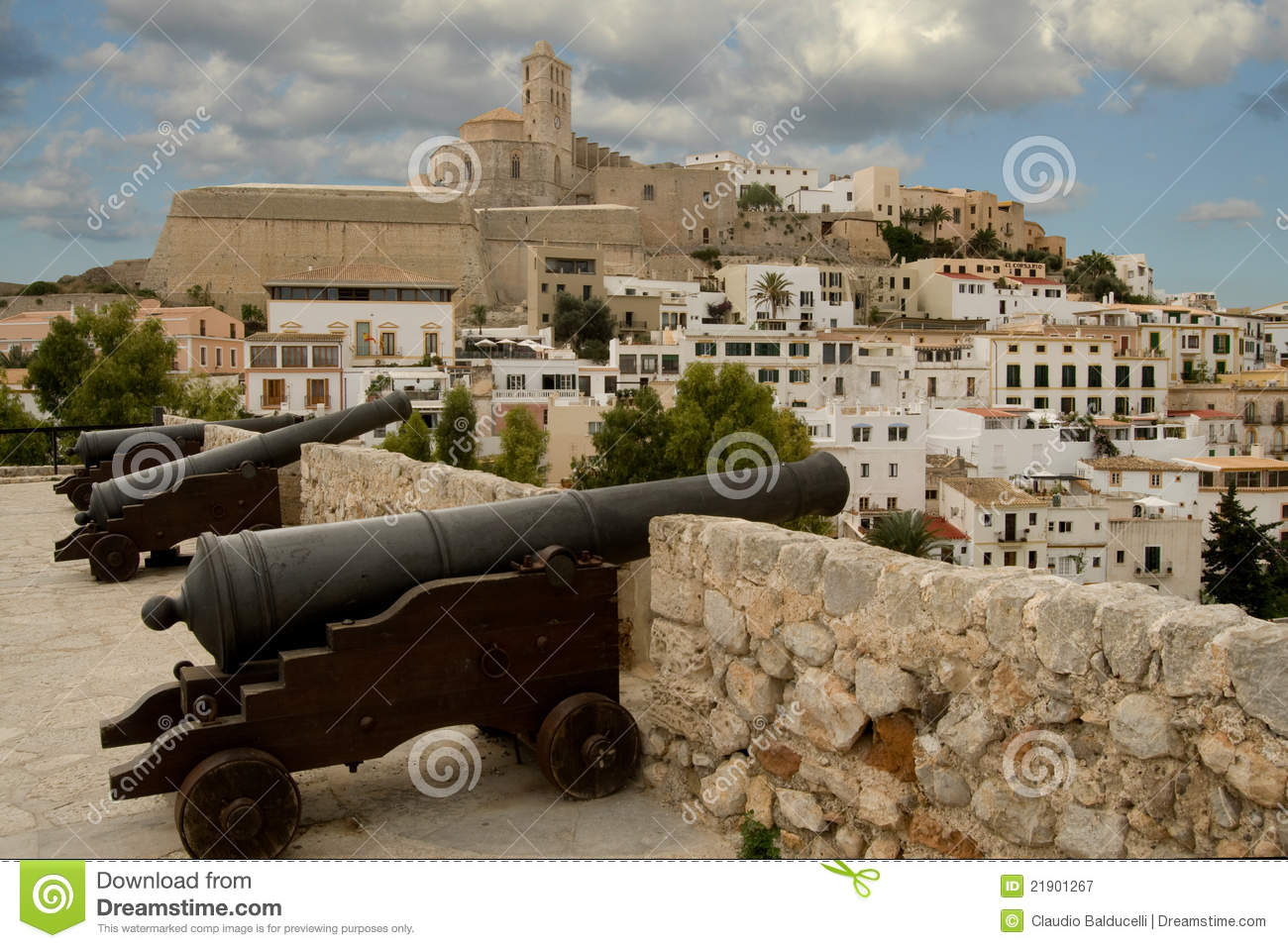 Fortress Dalt Vila (Ibiza) Royalty Free Stock Photography.