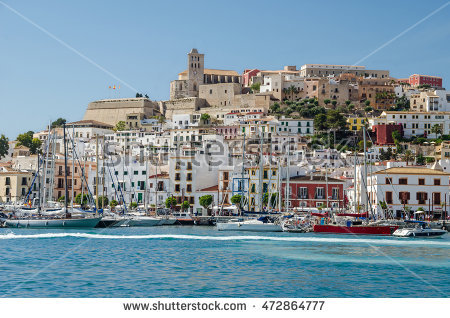 Dalt Vila Stock Photos, Royalty.