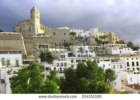 Ibiza White Balearic Island Village Dalt Stock Photo 78734140.