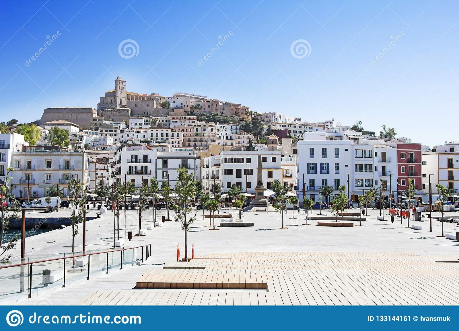 Ibiza Old Town, Called Dalt Vila Stock Image.