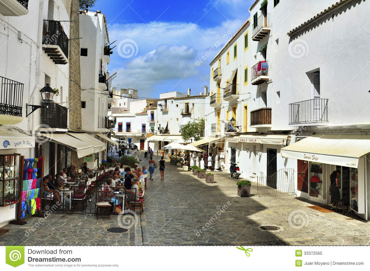 Dalt Vila, The Old Town Of Ibiza Town, In Balearic Islands, Spai.
