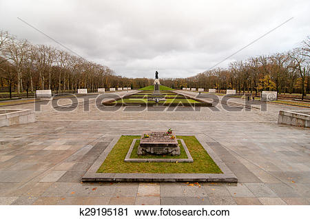 Stock Photography of Soviet War Memorial in Treptower Park, Berlin.
