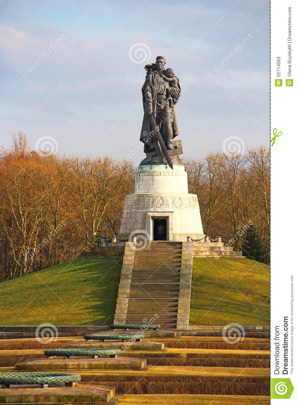Soviet War Memorial In Treptower Park In Berlin Stock Image.
