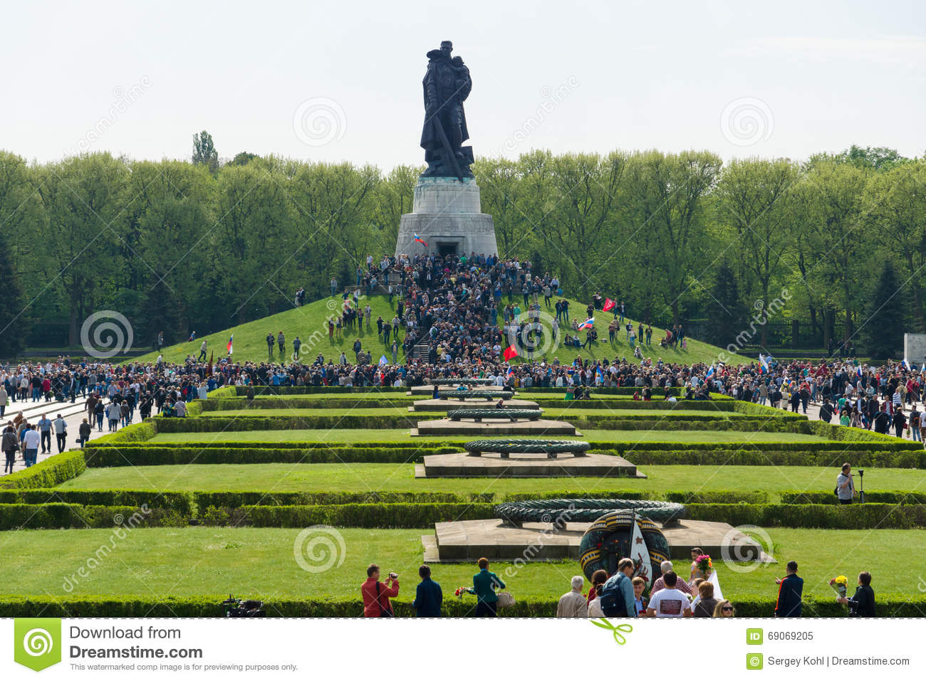 Victory Day (9 May) In Treptower Park. Berlin, Germany Editorial.