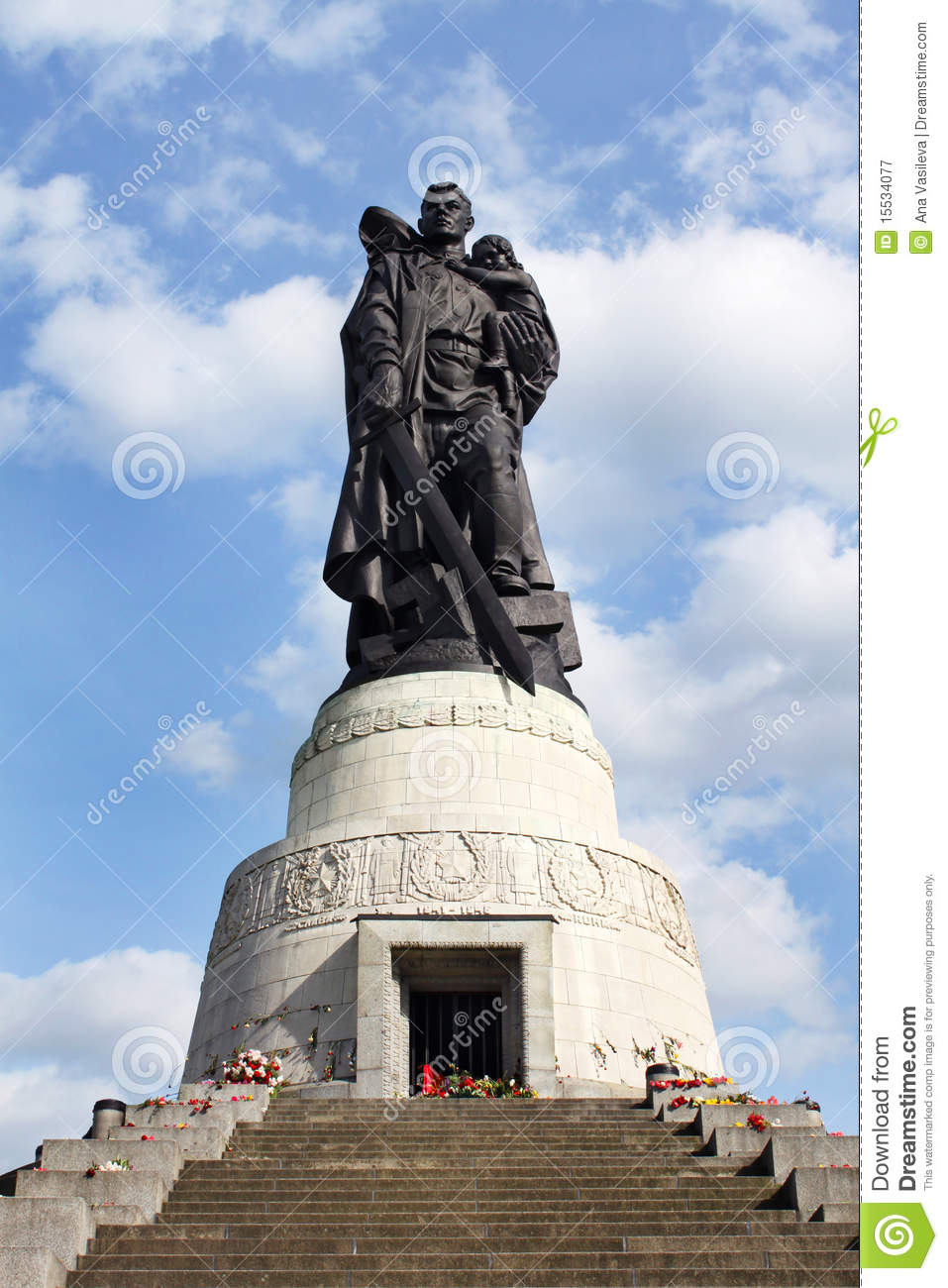 Soviet War Memorial, Treptower Park, Berlin Royalty Free Stock.