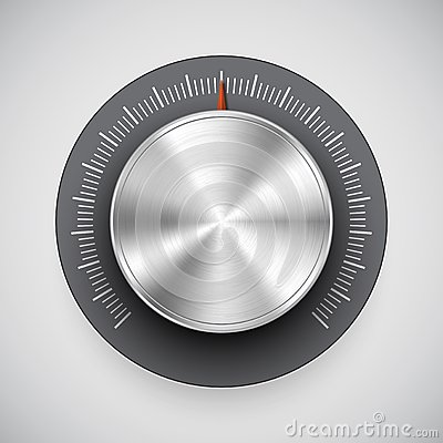 Metal Volume Knob (button, Music Tuner) Stock Photography.