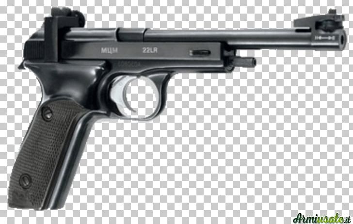Trigger Revolver Firearm MCM Pistol .22 Long Rifle PNG.