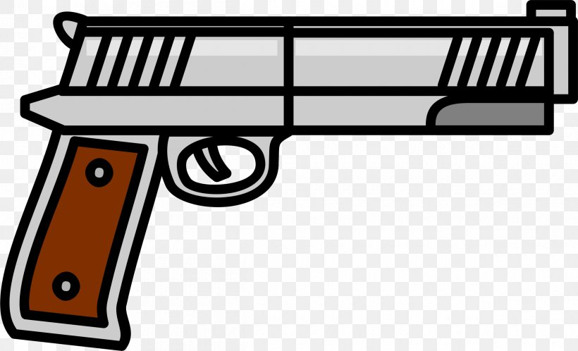 Weapon Firearm Pistol Revolver Clip Art, PNG, 2400x1459px.