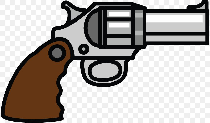 Firearm Weapon Pistol Clip Art, PNG, 814x480px, Watercolor.