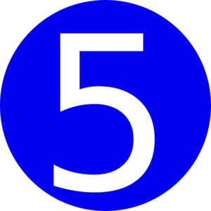 Number 0 5 Clipart.