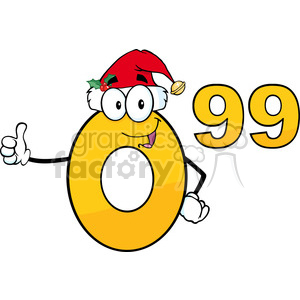 6690 Royalty Free Clip Art Price Tag Number 0.