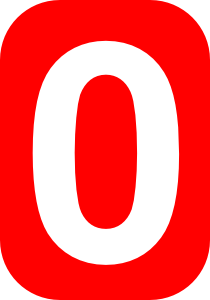 Red Rounded Rectangle With Number 0 Clip Art at Clker.com.