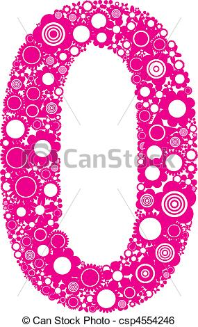 Clip Art Vector of Number 0.