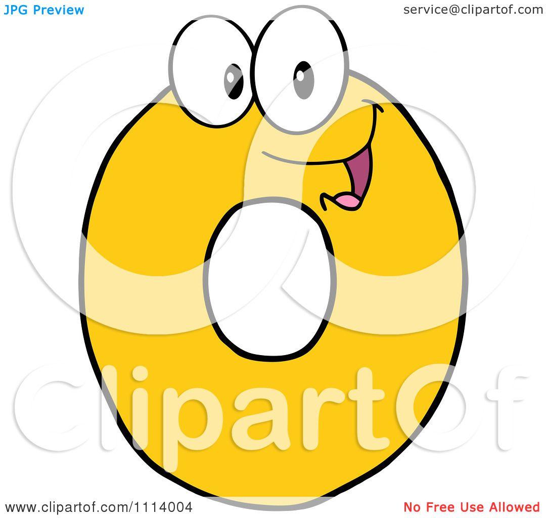 Clipart Yellow 0 Mascot.